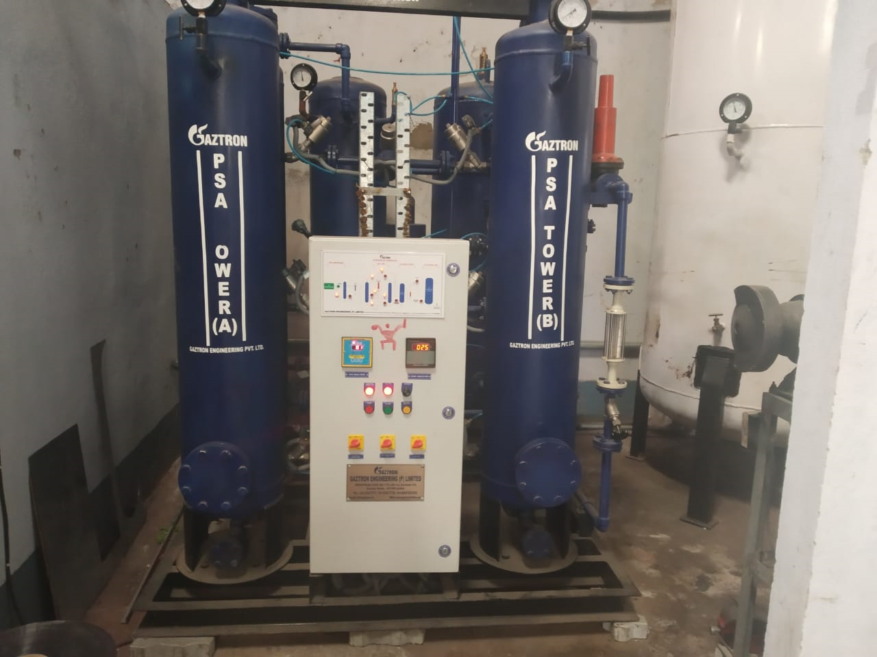 PSA Nitrogen Gas Generator for Blanketing of Oil and Chemical Tanks