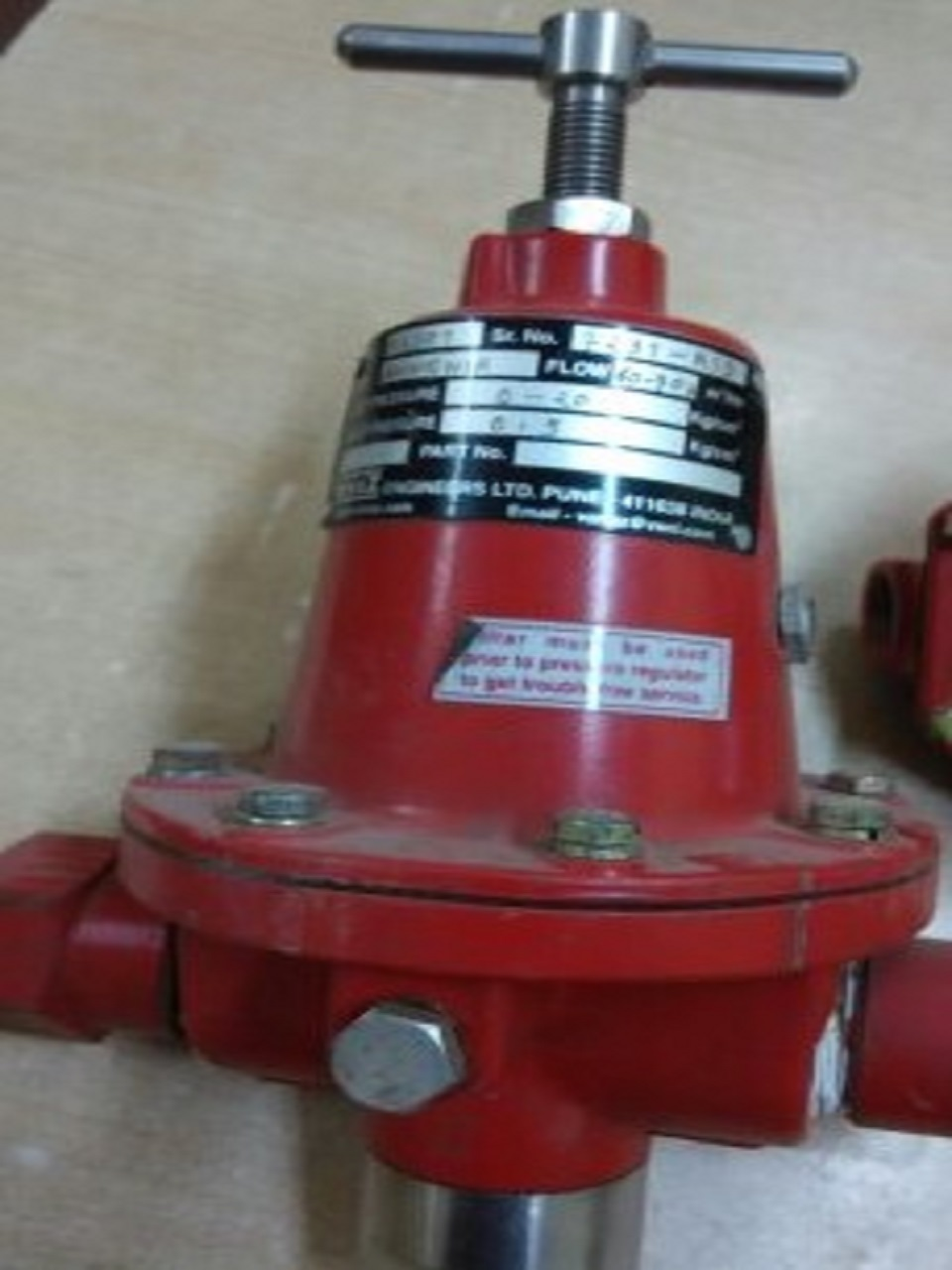 Ammonia Regulator and ammonia Shut off Valve